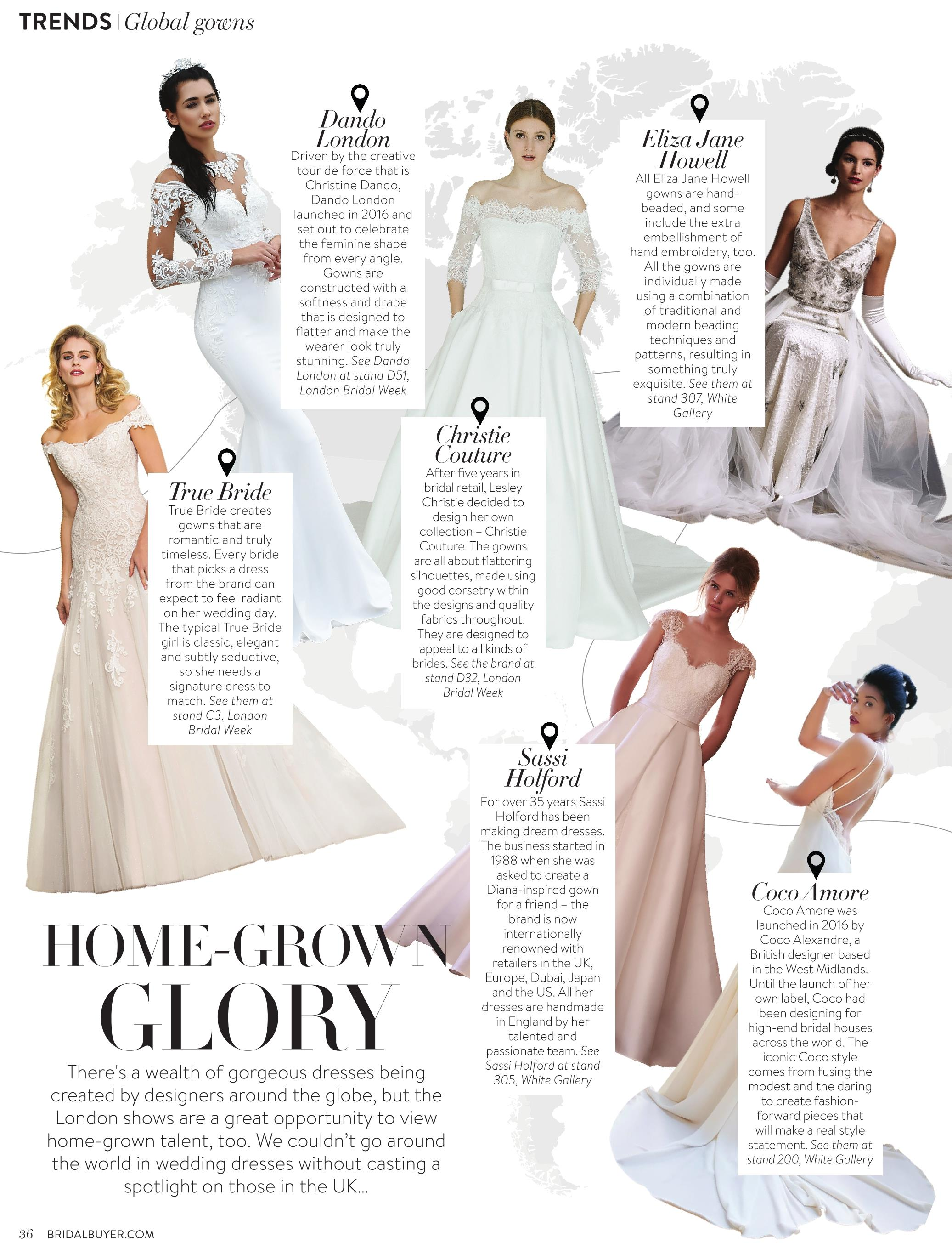 London Bridal Week - March 2018 | Christie Couture