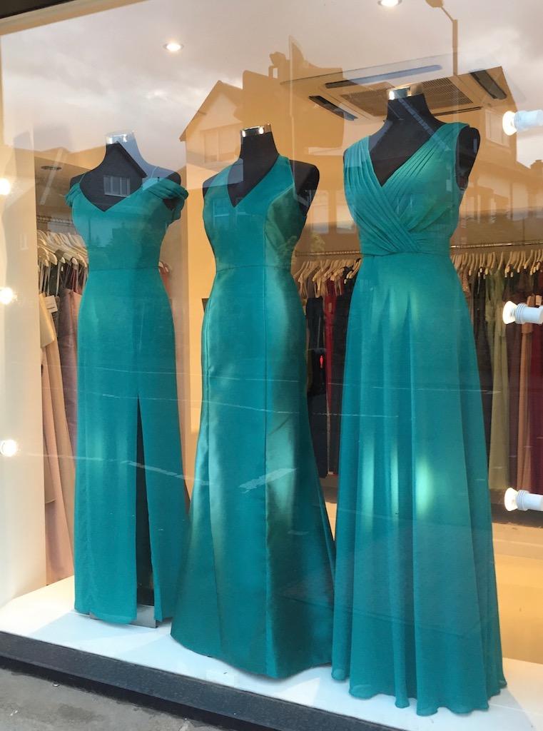 Bridesmaids in Jade